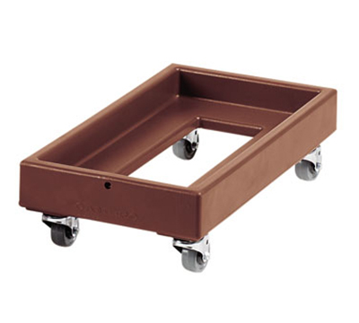 "Cambro CD1327131 Camdolly - 29x16x8-1/4"" 300-lb Capacity, Dark Brown"