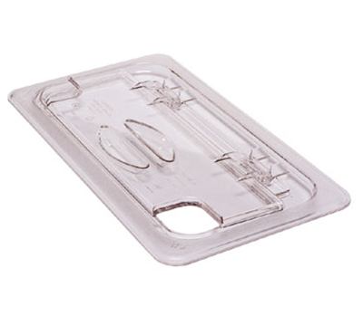 Cambro 60CWLN135 FlipLid Food Pan Cover - 1/6 Size, Notched, Hinged, Clear