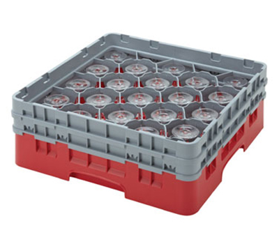 Cambro 20S434119 Camrack Glass Rack - (2)Extenders, 20-Compartment, Sher
