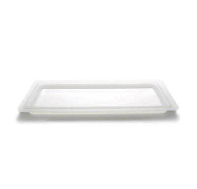 "Cambro 1218CP148 Camwear Food Storage Cover - Flat, 12x18"" Natural White"