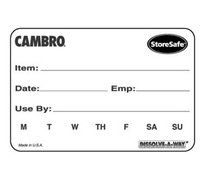 "Cambro 23SLB250148 StoreSafe Food Rotation Labels - 2x3"" (250 Per Roll)"