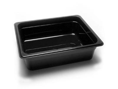 "Cambro 24CW110 Camwear Food Pan - Half Size, 4""D, Black"
