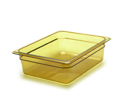 "Cambro 32HP150 H-Pan Hot Food Pan - 1/3 Size, 2-1/2""D, Non-Stick, Amber"