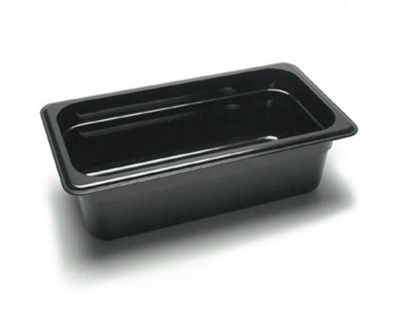 "Cambro 34CW110 Camwear Food Pan - 1/3 Size, 4""D, Black"