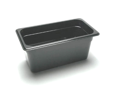 "Cambro 36CW110 Camwear Food Pan - 1/3 Size, 6""D, Black"