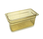 "Cambro 36HP150 H-Pan Hot Food Pan - 1/3 Size, 6""D, Non-Stick, Amber"