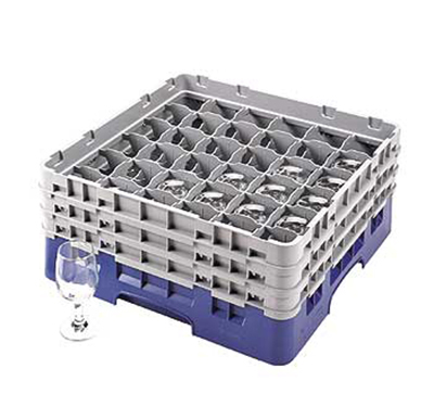 Cambro 36S638414 Camrack Glass Rack - (3)Extenders, 36-Compartment, Teal