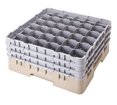 Cambro 36S800416 Camrack Glass Rack - (4)Extenders, 36-Compartment, Cranberry