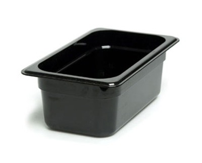 "Cambro 44CW110 Camwear Food Pan - 1/4 Size, 4""D, Black"
