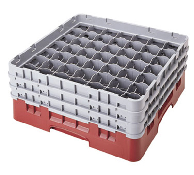 Cambro 49S800168 Camrack Glass Rack - (4)Extenders, 49-Compartment,