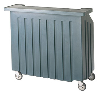 "Cambro BAR540401 54"" Cambar Portable Bar - 100-lb Ice Sink, Speed Rail, Slate Blue"