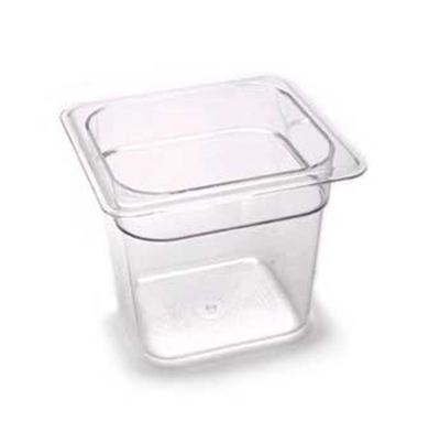 "Cambro 66CW135 Camwear Food Pan - 1/6 Size, 6""D, Clear"