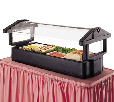 Cambro 5FBRTT158 Tabletop Salad Bar - 4-Pans, Ice Pan, Breathguard, Hot Red