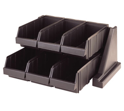 "Cambro 6RS6-131 Organizer Rack - (6)Bins, 20-1/8x17-1/4x9-1/4"" Dark Brown"