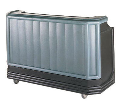 "Cambro BAR730421 72-3/4"" Portable Bar - 80-lb Ice Sink, Speed Rail, Black/Granite Green"