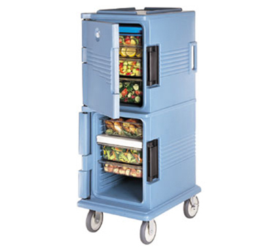 Cambro UPC800401 60-qt Camcart Ultra Pan Carrier - Front Loading, Slate Blue