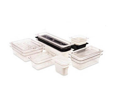 Cambro 90CWCN135 Camwear Food Pan Cover - 1/9 Size, Flat, Notched, Clear