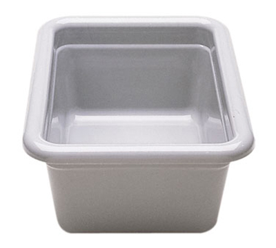 "Cambro 912CBP180 Utility Box - 9-1/16x12-1/16x5-1/8"" Hi-Gloss Plastic, Light Gray"