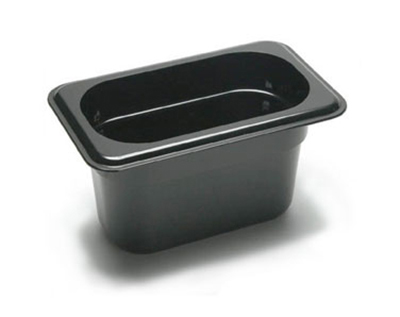 "Cambro 94CW110 Camwear Food Pan - 1/9 Size, 4""D Black"