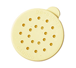 Cambro 96SKRLC405 Replacement Lid - Cheese Shaker/Dredge, Yellow