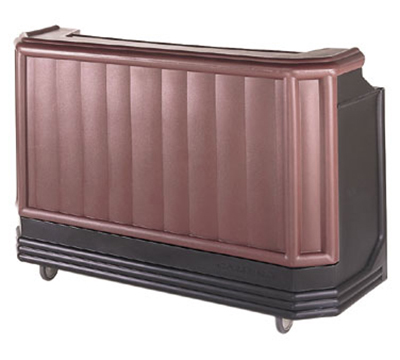 "Cambro BAR650PM189 67-1/2"" Portable Bar - Post-Mix Drink System, CO2, Brown/Mahogany"