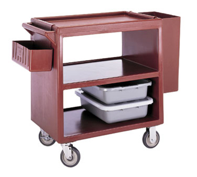 "Cambro BC230131 Service Cart - (3)20x27"" Shelves, 500-lb Capacity, Dark Brown"