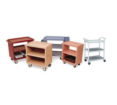 "Cambro BC340KD480 Service Cart - (3)20.5x31.5"" Shelves, (4)Swivel Castors, Speckled Gray"