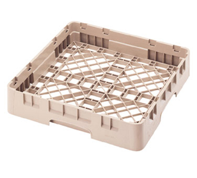 "Cambro BR258416 Camrack Base Rack - Full Size, 1-Compartment, 4""H, Cranberry"