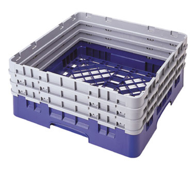"Cambro BR712414 Camrack Base Rack - (3)Extenders, 1-Compartment, 4""H, Teal"