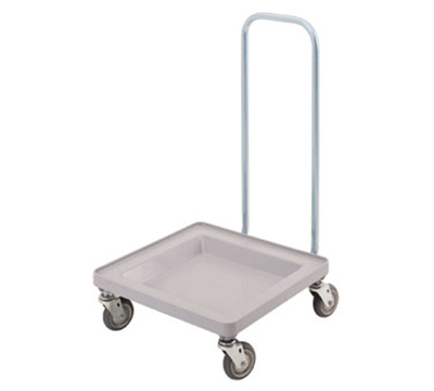 "Cambro CDR2020H151 Platform Camdolly with Handle - 23-3/8x21-3/8x37"" Soft Gray"