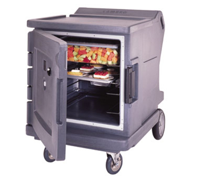Cambro CMBHC1826LF191 Camtherm Hot/Cold Cart - Thermometer, Granite Gray 120v