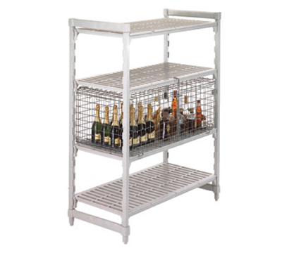 "Cambro CSSC2448 Camshelving Security Cage - 25-1/4x42-1/2x18"" Stainless"