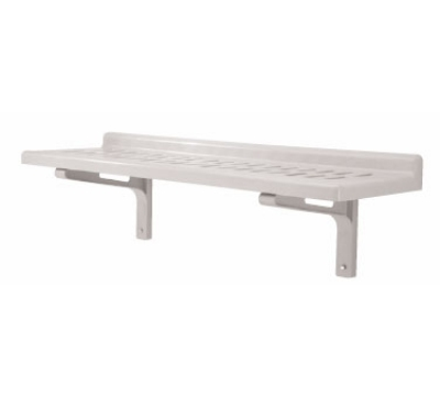 """Cambro CSWS1436VK Camshelving Slotted Wall Shelf - 14x36"""" Speckled Gray"""