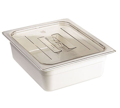Cambro 40CWCH135 Camwear Food Pan Cover - 1/4 Size, Flat with Handle, Clear