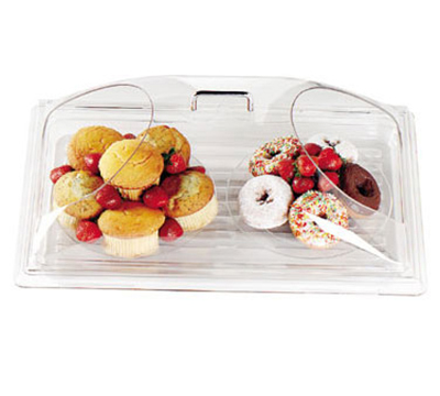 "Cambro DD1220BECW Display Dome Cover - Open Ends, 12x20"" Polycarbonate, Clear"