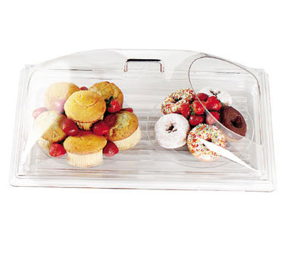 "Cambro DD1220ECW Display Dome Cover - Open End, 12x20"" Polycarbonate, Clear"