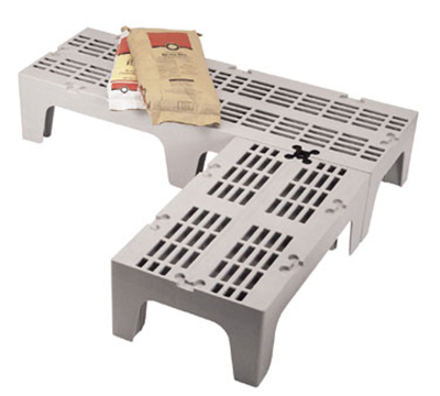 "Cambro DRS600480 S-Series Dunnage Rack - Slotted Top, 21x60x12"" Speckled Gray"