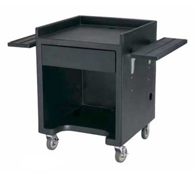 "Cambro ES28110 Equipment Stand - 28x28"" Black"