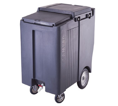 Cambro ICS200TB110 Mobile SlidingLid Tall Ice Caddy - 200-lb Capacity, Wheels/Castors, Black