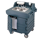 Cambro KSC402220192 International CamKiosk Hand Sink Cart - Granite Green 220v