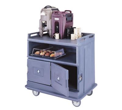 Cambro MDC24F191 Beverage Service Cart - Flat Top, Granite Gray
