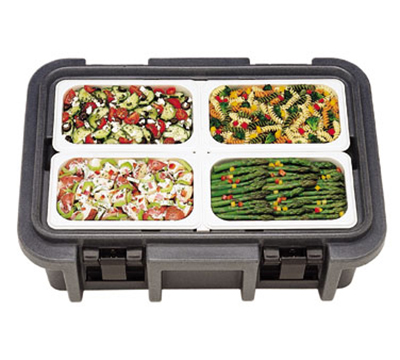 Cambro UPC140192 12-qt Camcarrier Ultra Pan Carrier - (1)Full Size Pan, Granite Green