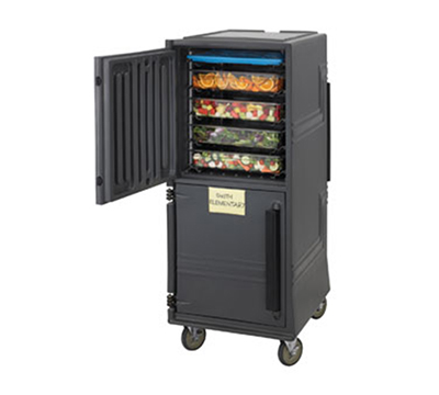 Cambro CMBPHD Non-Electric Combo Cart, 6-in Heavy Duty Casters, 4-Hour Capacity, Charcoal Gray