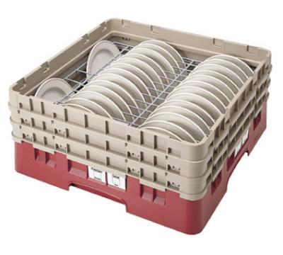 Cambro CRP6345416 Camrack PlateSafe Full Size Extender Fits (63) 4 in 5 in Plates Cranberry Restaurant Supply