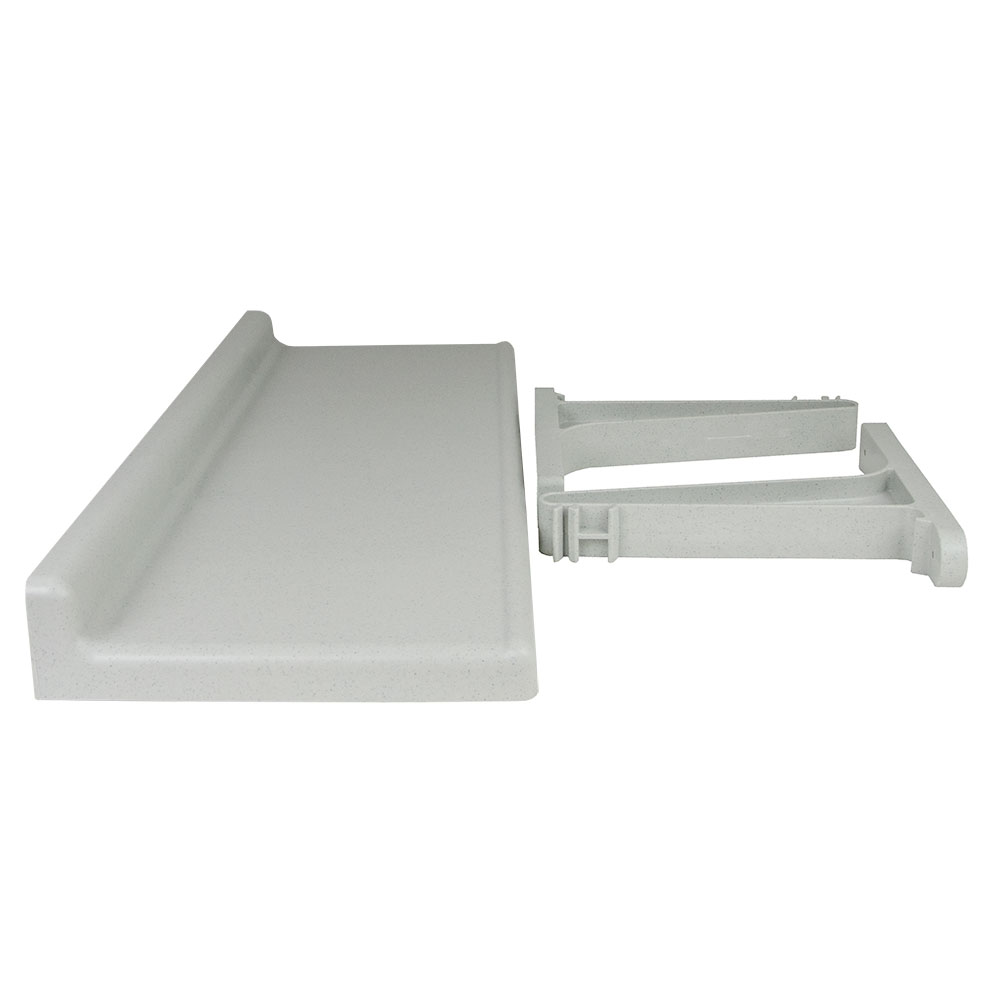 Cambro CSWS1448SK 14 in D x 48 in W Solid Camshelving Wall Shelf Molded Backsplash NSF Restaurant Supply
