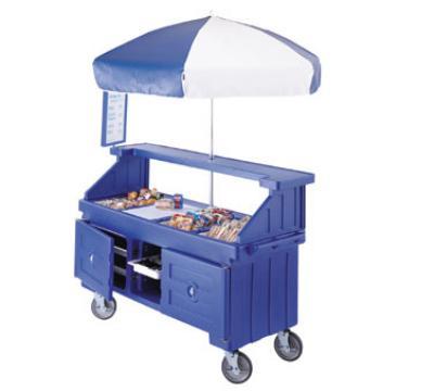 Cambro CVC724192 Camcruiser Vending Cart 4 Countertop Wells Granite Green and White Restaurant Supply