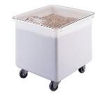 Cambro IB32148 Ingredient Bin, Mobile, 32 Gal. Polyethylene w/Sliding Cover, White