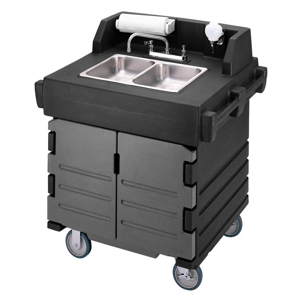 Cambro Ksc402426 Camkiosk Hand Sink Cart Black Granite