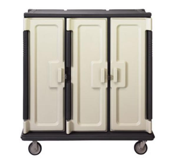 Cambro MDC1411T60191 Meal Delivery Cart Tall Profile 3 Doors 3 Compartments Granite Gray/Cream Restaurant Supply