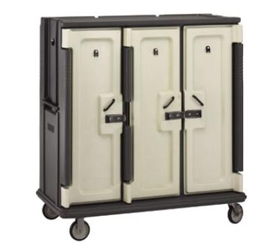 Cambro MDC1520T30194 Meal Delivery Cart Tall Profile 3 Doors 3 Compartments Granite Sand/Cream Restaurant Supply